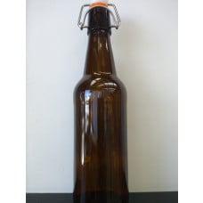 Glass Flip Top Bottle 500ml Amber - Case of 12