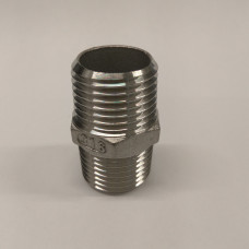 """1/2"""" Inch BSP 316 stainless Hex Nipple"""