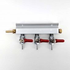3 Output / 3 Way Manifold Gas Line Splitter (1/4