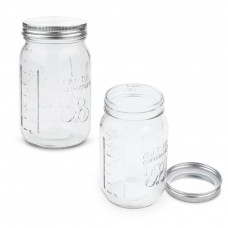 Glass Jar for Fermenting, Yoghurt, Preserving or Food Storage - 1 Quart (950mls)