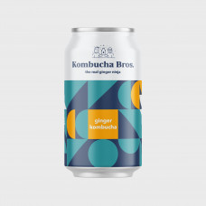 Ginger Kombucha 330ml can by Kombucha Bros