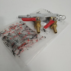 2 Output / 2 Way Gas Line Manifold Splitter with Check Valves