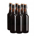 Reusable Brown Glass Flip Top Bottles 750ml